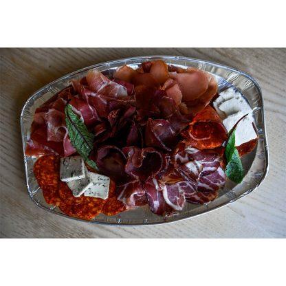 Vrhunski suhomesnati proizvodi + kozji sir - garniran tanjir